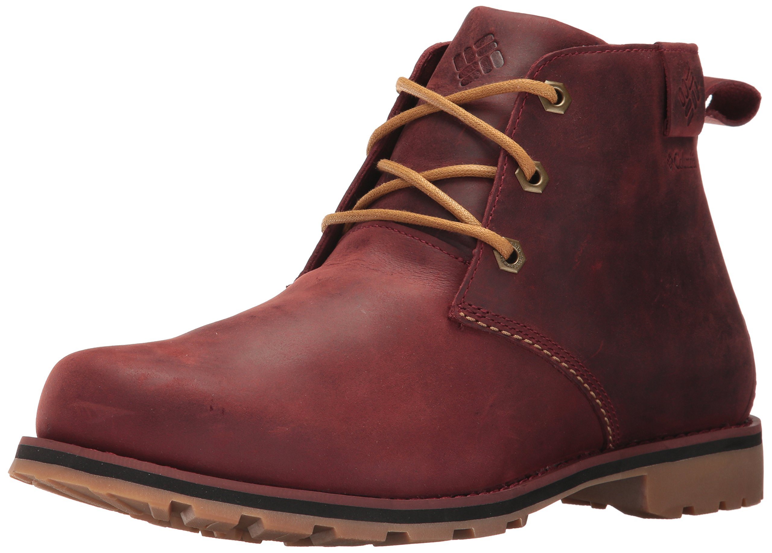 Columbia Men's Chinook Chukka Waterproof Uniform Dress Shoe, Madder Brown, Mountain Red, 11 D US by Columbia