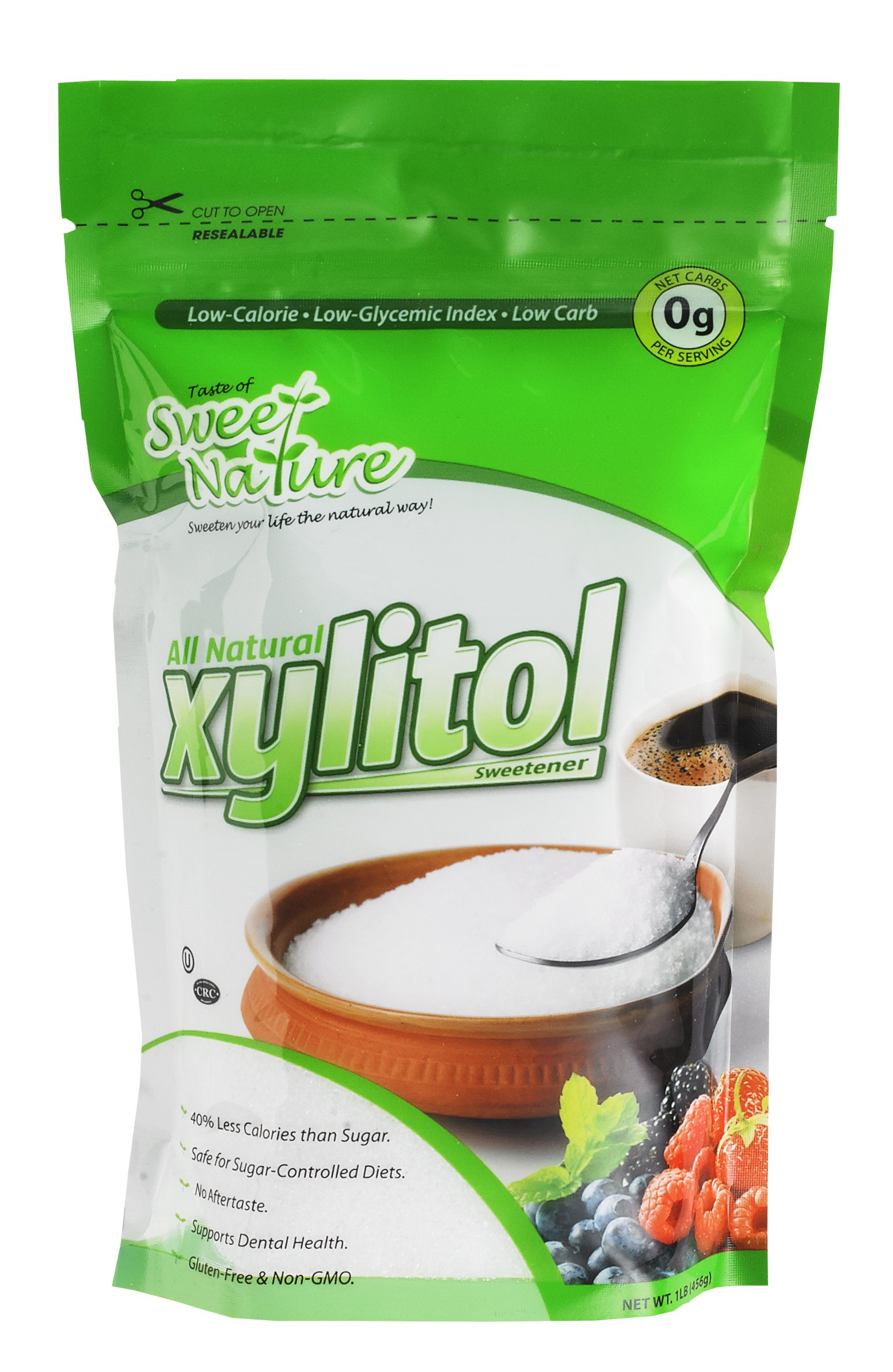 Taste of Sweet Nature Kosher Non GMO 3lb Xylitol