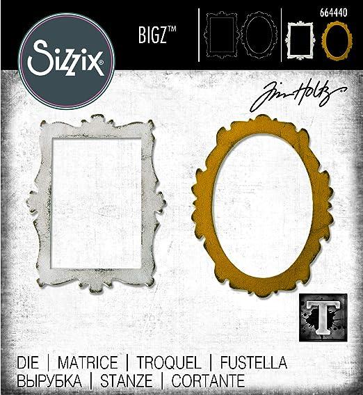 Sizzix Matrice de decoupe Bigz 664502 Feuilles r/écolt/ées par Jen Long Scrapbooking Taille unique Multicolor