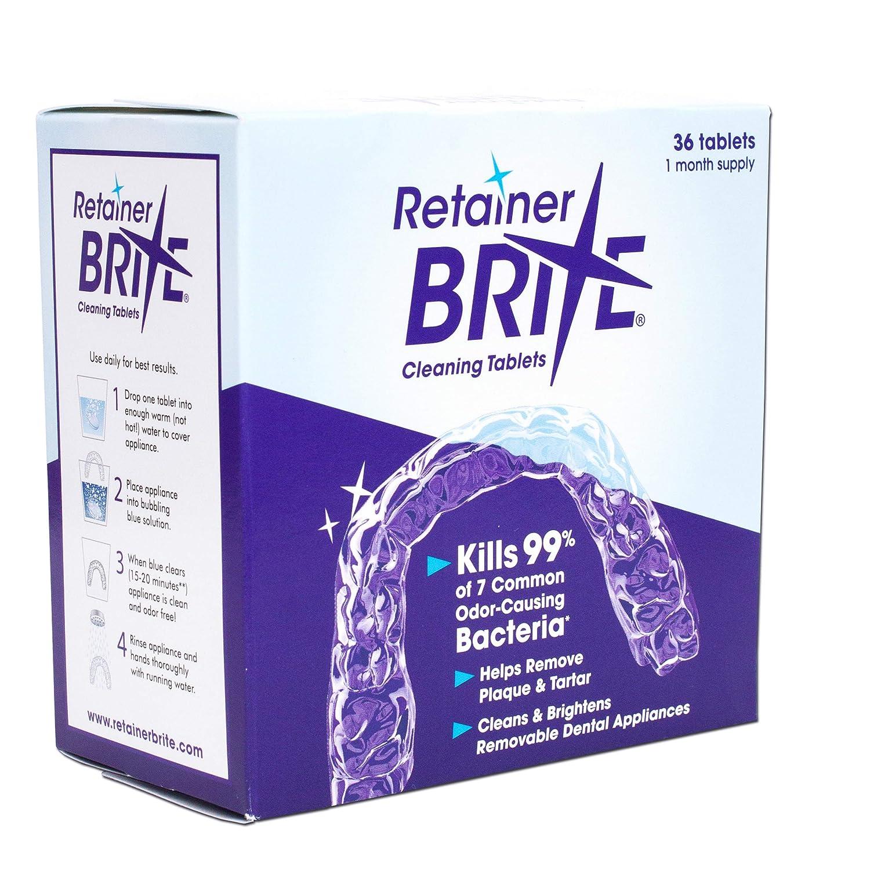 Contre Tablette Pour Retainer Dentaire Nettoyante Brite Appareil 6q55FYw