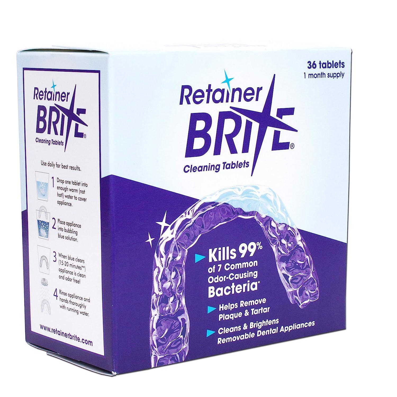 Tablette Pour Contre Appareil Dentaire Brite Nettoyante Retainer Sqw7O6n