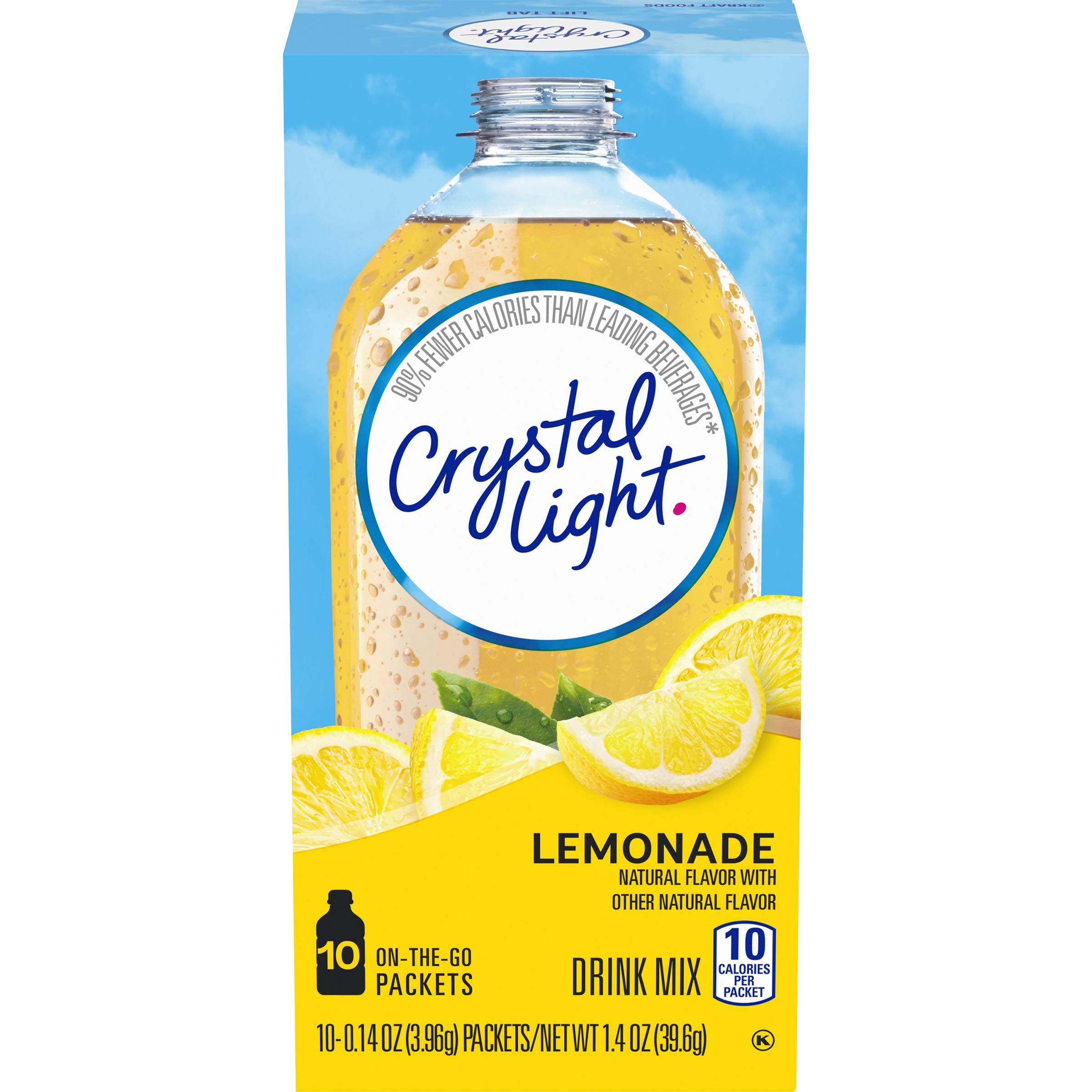 Crystal Light Sugar-Free Lemonade Drink Mix (60 On-the-Go Packets, 6 Packs of 10)