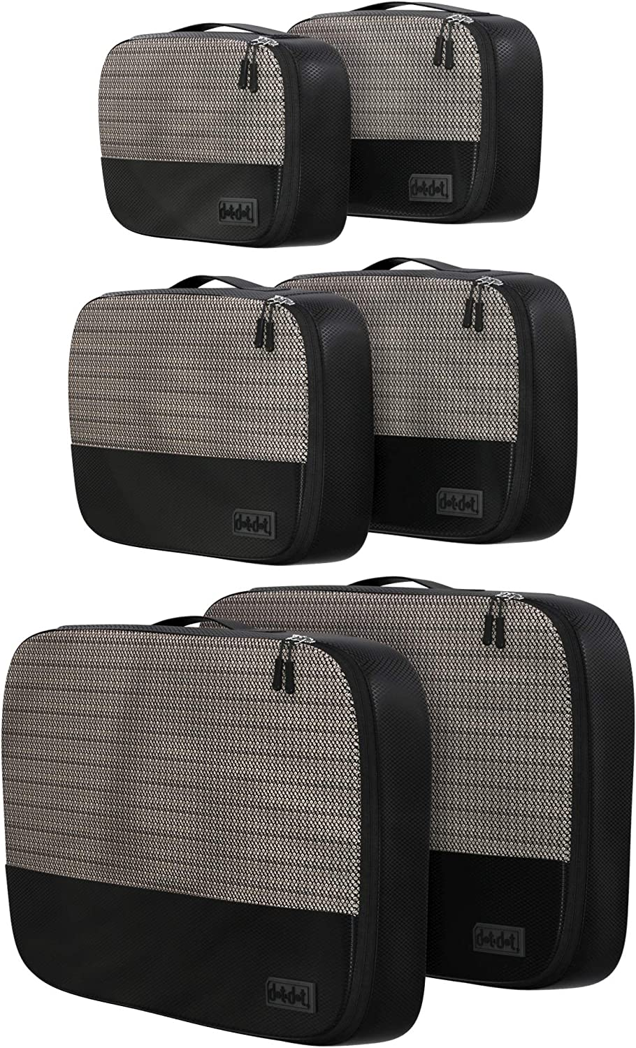 Packing Cubes Set of 6 - Lightweight Packing Cubes for Travel