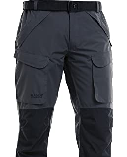 a603a08ec333c FLADEN Fishing Authentic Wear Fully Waterproof and Windproof Outdoor  Utility Trousers - GREY/BLACK…