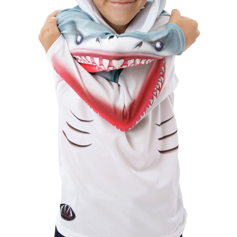 MouthMan Unisex-Child Shark Hoodie Shirt