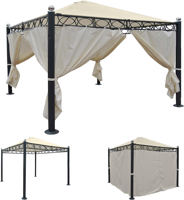 Pergola Bela Antigua, Cenador, estructura estable de 10 cm de ...