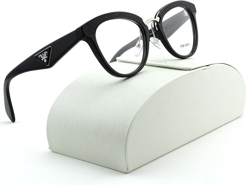 f35ce700e5 Amazon.com  Prada 0PR 26SV Ornate Women Square Eyeglasses Black ...