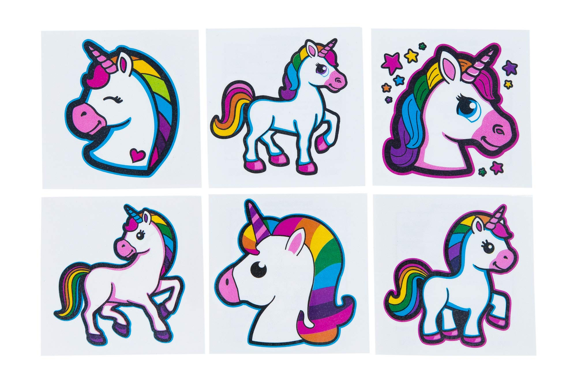 Unicorn Tattoos - 72 Pack Set Of Assorted Unicorn Temporary Tattoos - Great For Birthday Party Favors, Classrooms, Favor… 2