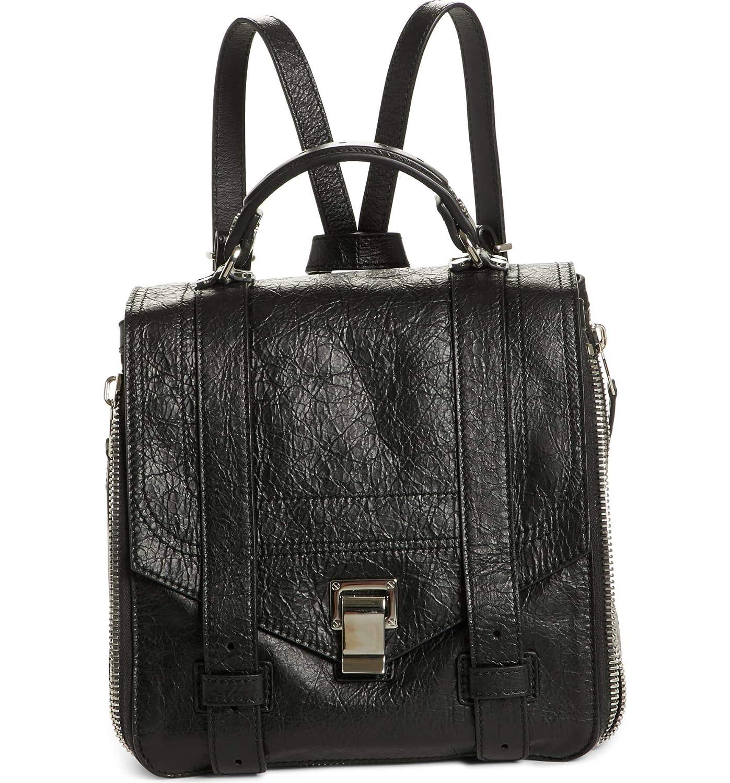 [プロエンザショラー] レディース バックパックリュックサック Proenza Schouler PS1 Leather Convertible [並行輸入品] B07DRCYPP4  One-Size