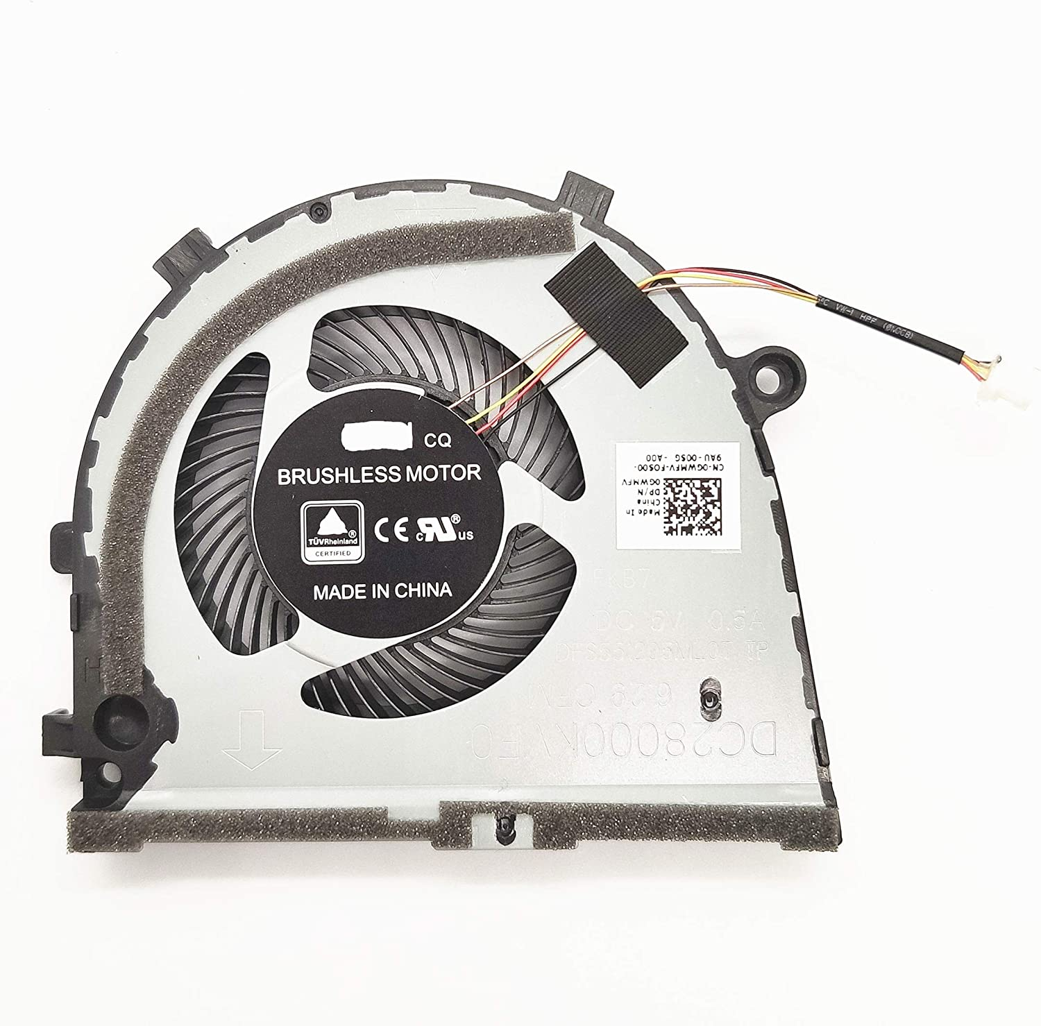 Lee_Store Replacement New GPU Cooling Fan for DELL inspiron Game G3 G3-3771 G3-3579 G5 15 5587 Series GPU Fan 0GWMFV FKB7 5V 0.5A DFS551205MLOT TP DC28000KVF0