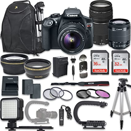 Amazon Com Canon Eos Rebel T6 Video Digital Slr Camera Kit