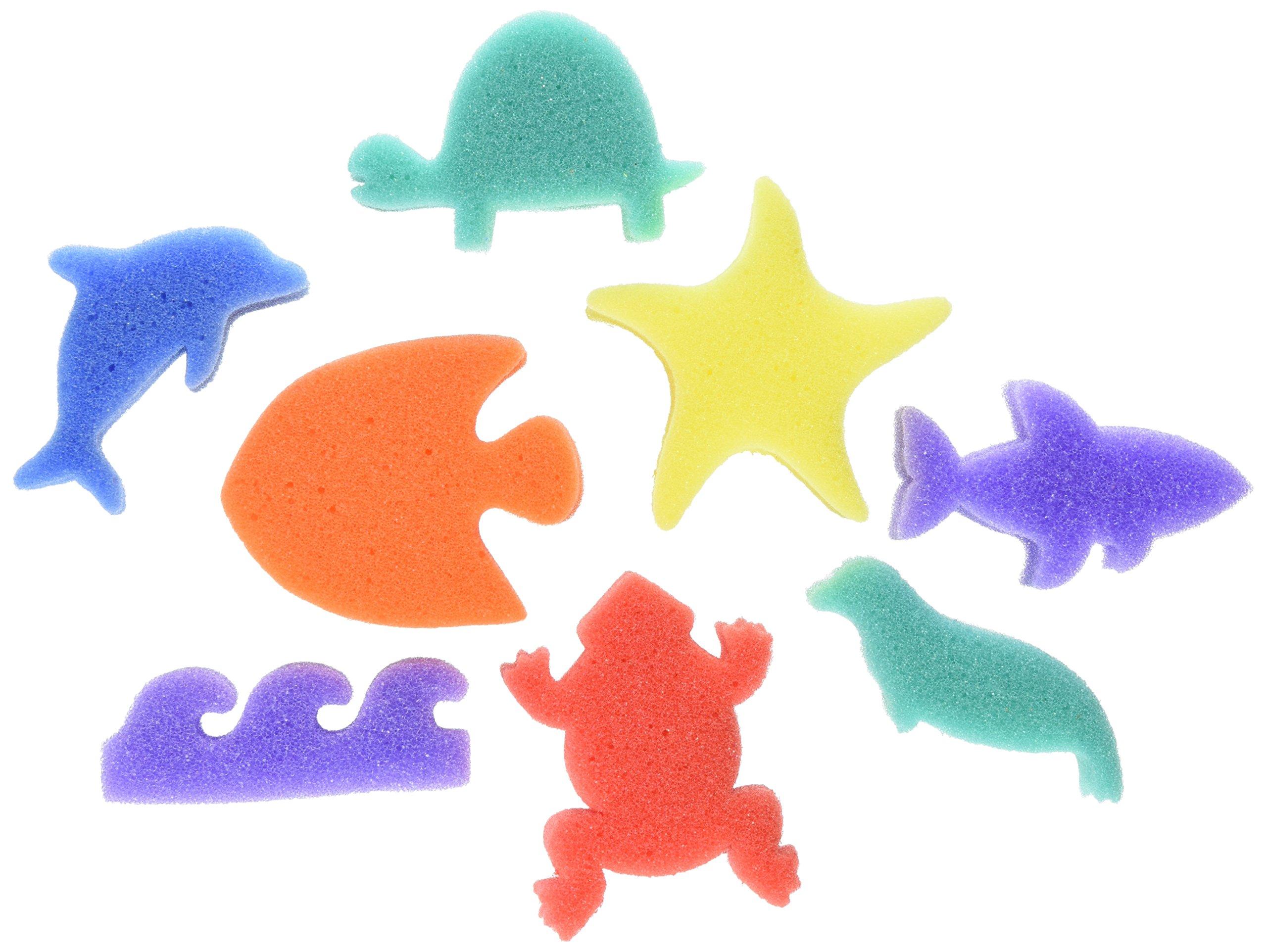 Creativity Street AC9073 Ocean Paint Sponge, 3'' Size (Pack of 8)