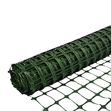 FENCE ONLY ~ Plastic Barrier Safety Mesh Fence ~ Event Fencing Garden Netting