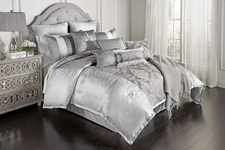 Riverbrook Home Kacee Comforter Set, Queen, Platinum 12