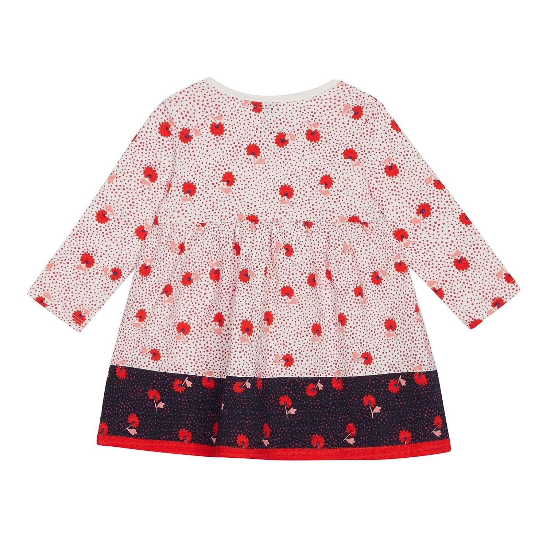 J By Jasper Conran Kids Baby Girls Off White Textured Floral Dress
