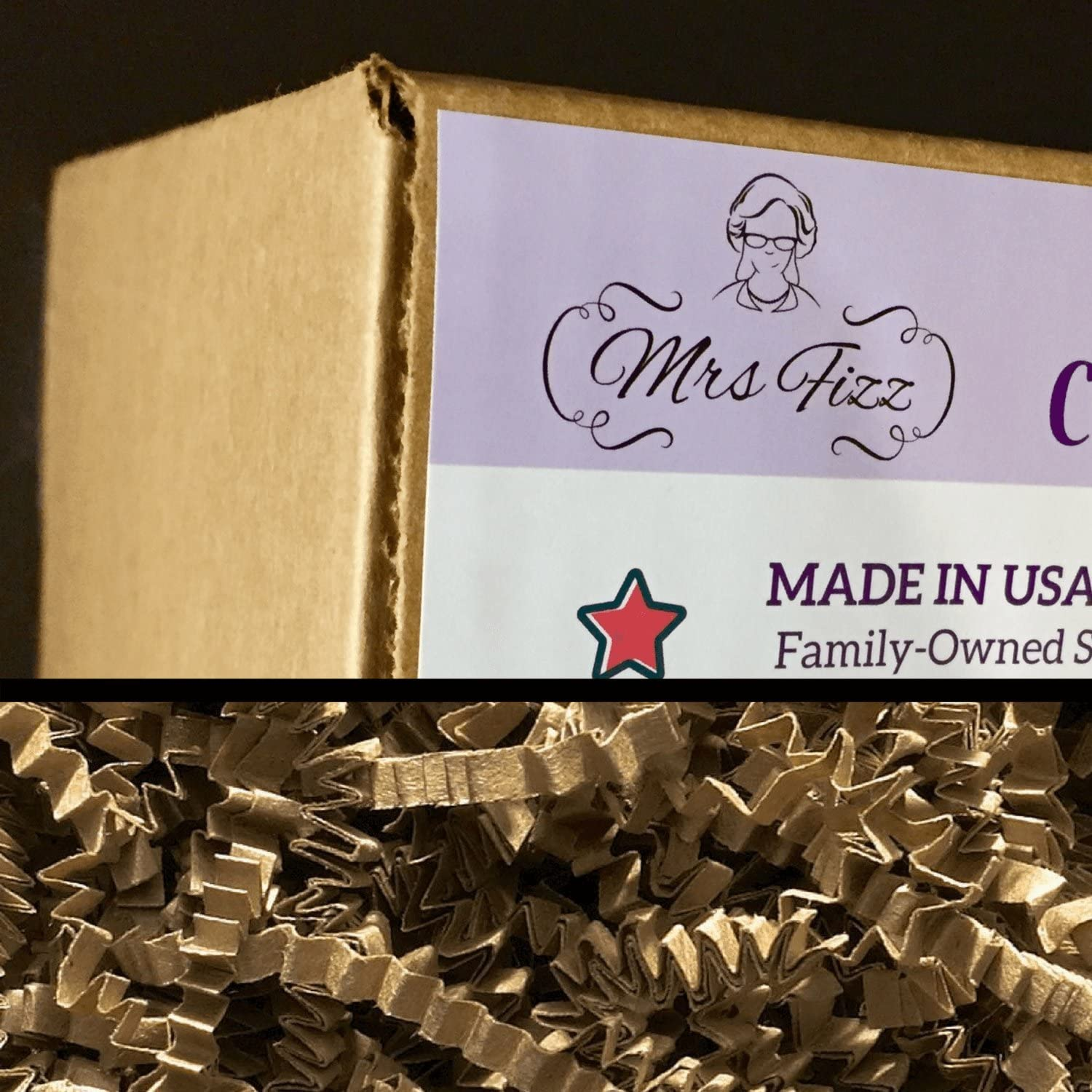 Crinkle Cut Paper Shred Filler for Packing and Filling Gift Baskets, Natural Craft Bedding in Brown Kraft Red Pink and White … (2 LB, KRAFT): Office Products