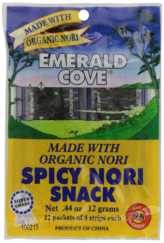 Emerald Cove Silver Grade Organic Spicy Nori (Toasted Seaweed) Snacks