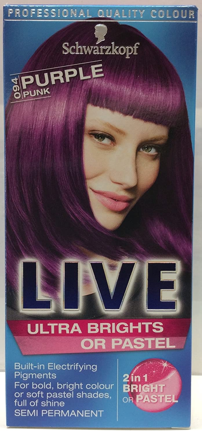 Amazon Schwarzkopf Live Ultra Brights 94 Purple Pink Hair