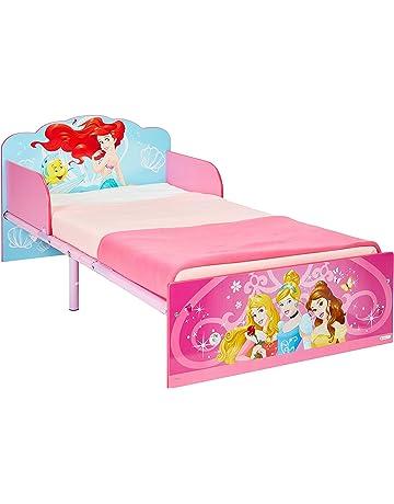 Disney Princesas Hello Home Cama Infantil, Madera, Rosa, 42.50x77.00x143.