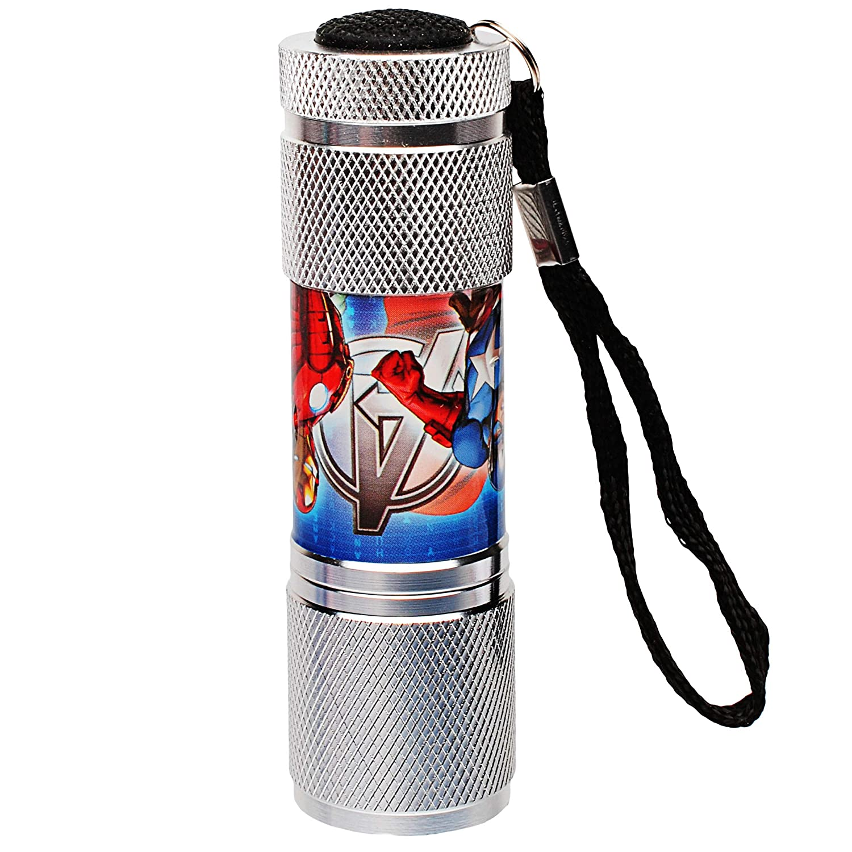 alles-meine.de GmbH Taschenlampe LED 9 Fach LEDlicht aus Metall inkl Metallta.. Name Mini Lampe // Schl/üsselanh/änger Avengers Licht Auto Kindertaschenlampe f/ür Jungen