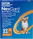 Nexgard, Flea, Tick & Worming Monthly Chew, Spectra, Dog, 2-3.5kg, 3pk