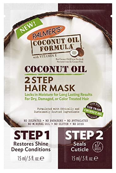 Amazon.com: Palmer - Máscara de pelo de aceite de coco de ...