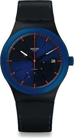 Swatch Reloj Digital para Hombre de Automático con Correa en Silicona SUTB403: Amazon.es: Relojes