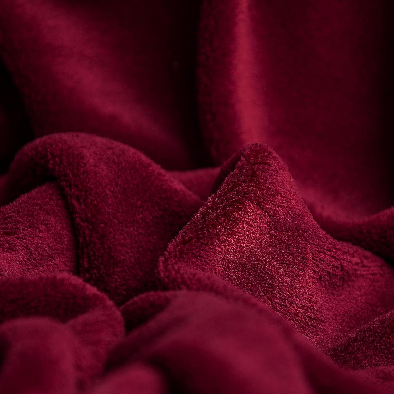 Bordeaux 150 x 200 cm CelinaTex Couverture Plaid Douillet et Chaud Coral Polaire Microfibre Couverture Douillette Couvre-lit Couverture en Microfibre certifi/é /Öko-Tex Microfibre