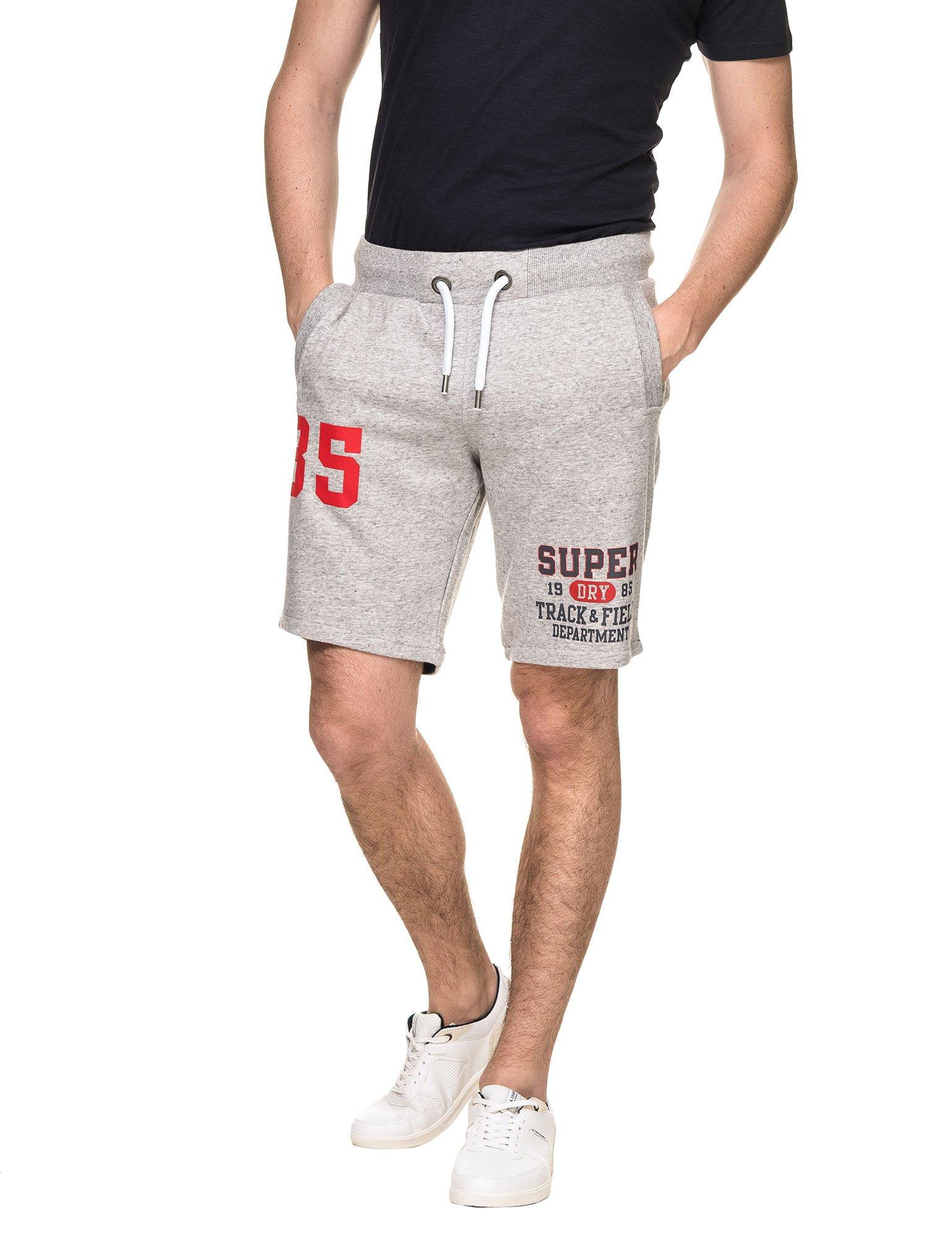 Superdry Men's Trackster Men's Grey Shorts in Size L Grey