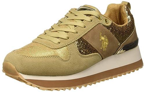 U.S.POLO ASSN. TABITHA1 Crystal, Zapatillas para Mujer, Oro Gold, 38 EU: Amazon.es: Zapatos y complementos