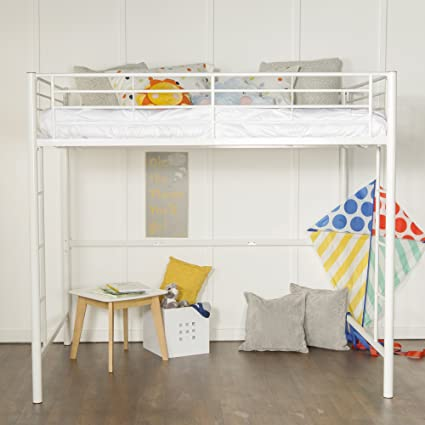 Amazon.com: New Full Size Loft Bed-White Metal Finish: Kitchen & Dining