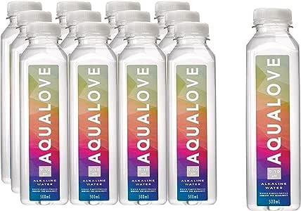 Aqualove Water 9-10pH Alkaline Water, 12 x 500ml