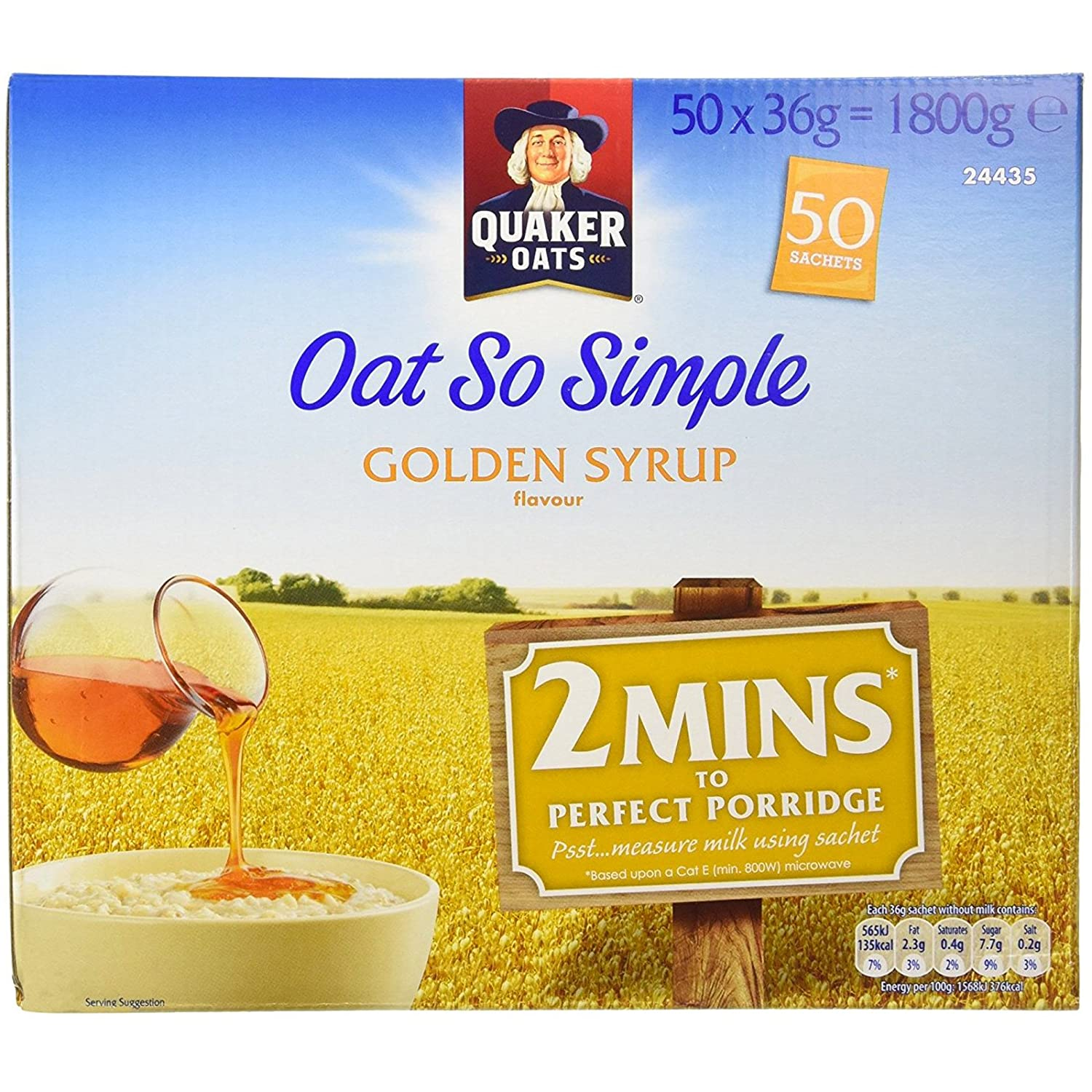 Quaker Oats Oat So Simple Golden Syrup Flavour - 1 x 50 sachets: Amazon.es: Hogar