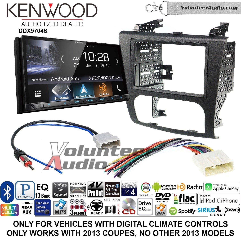 ボランティアオーディオKenwood ddx9704sダブルDINラジオインストールキットwith Apple CarPlay Android自動Fits 2007 – 2013年日産アルティマ(デジタル気候コントロール) B07BZVB5V3
