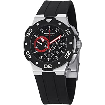 MomoDesign Tempest MD1004-01BKRD-R 46mm Ion Plated Stainless Steel Case Black Silicone Mineral