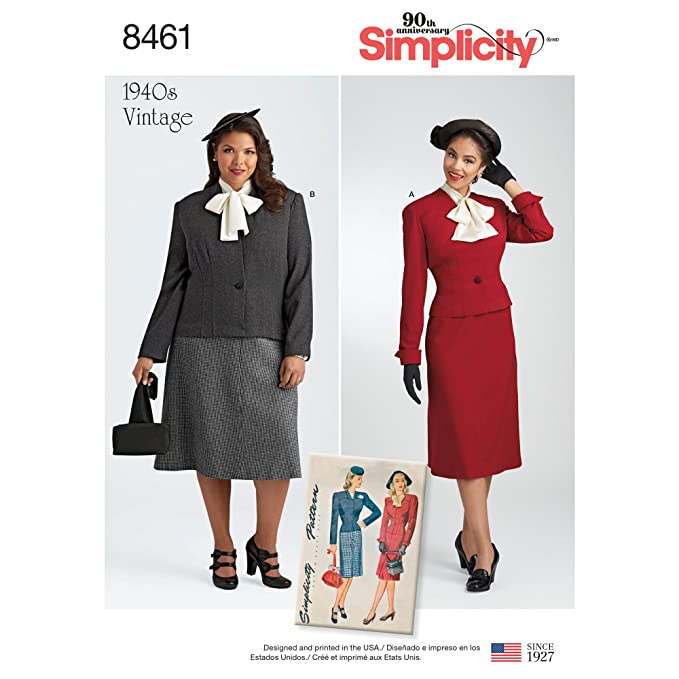 1940s Sewing Patterns – Dresses, Overalls, Lingerie etc 1940s Simplicity Vintage US8461AA Sportswear AA (10-12-14-16-18) $7.75 AT vintagedancer.com