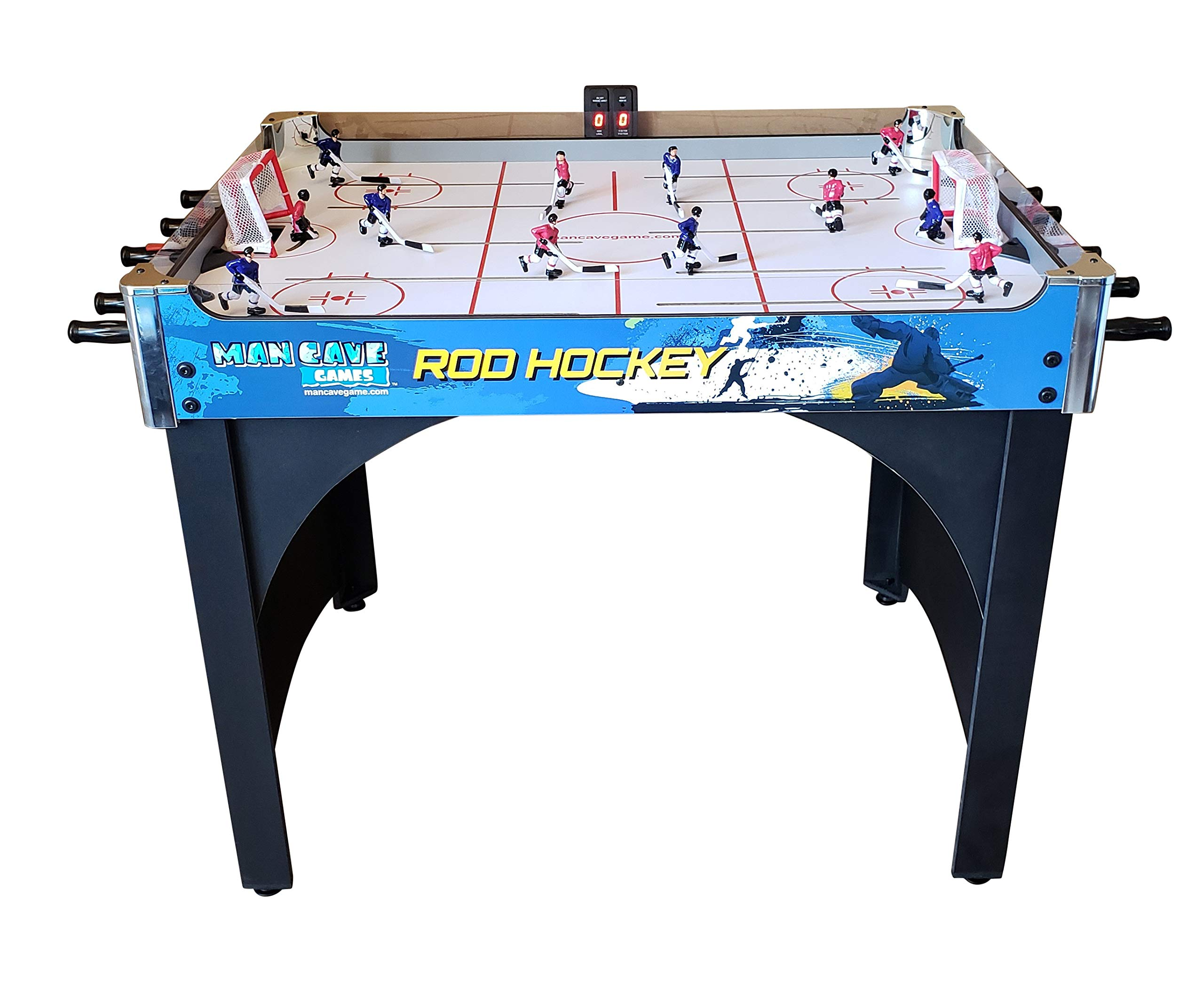 ManCave Games 40'' Electronic Rod Hockey Game. Head-to-Head Table Hockey with Manual Scoring. Great Size, Durability & Easier for Kids to Play Than Dome Hockey. by ManCave Games