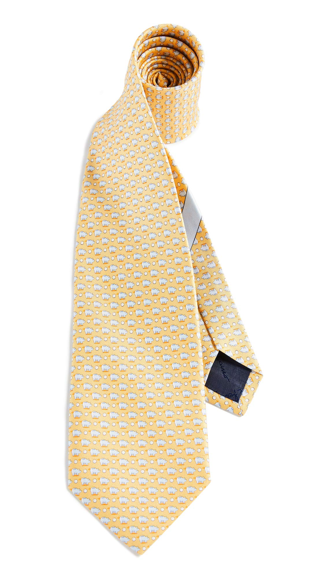 Salvatore Ferragamo Men's Pig Tie, Yellow, One Size