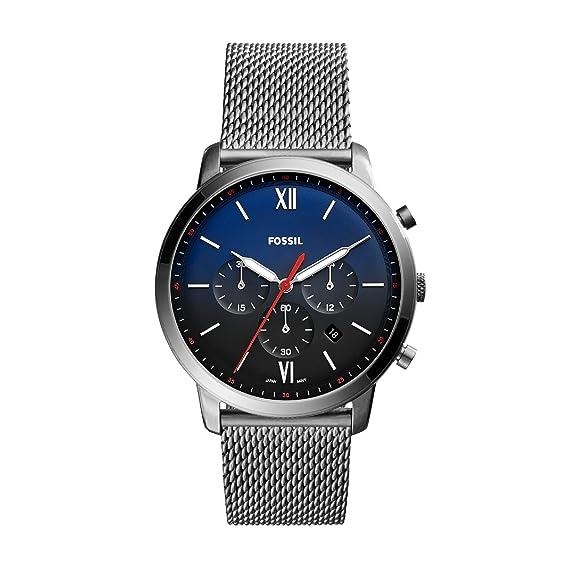 Fossil Reloj Cronógrafo para Hombre de Cuarzo con Correa en Acero Inoxidable FS5383: Amazon.es: Relojes
