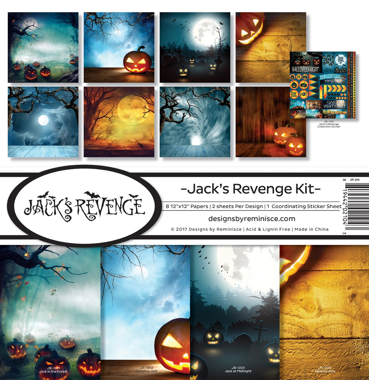 Erinnerung Jack 's Revenge Scrapbook Collection Kit Reminisce JR-200