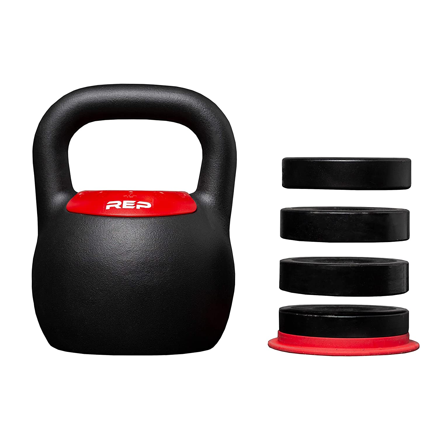 REP FITNESS Adjustable Kettlebell with Matte Powder Coating Quickly Select from Multiple KG or LB Weight Options for HIIT and Cross Training Workouts