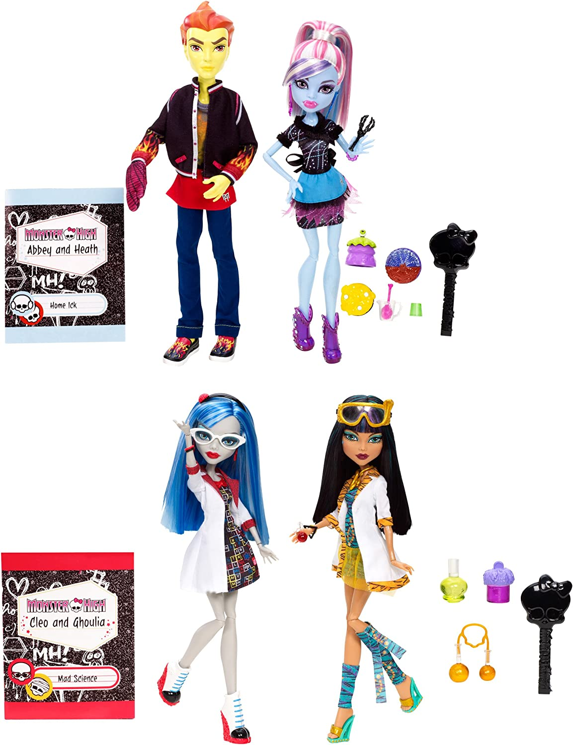Amazon.es: Monster High - Muñecas compañeras de clase (pack de 2 ...