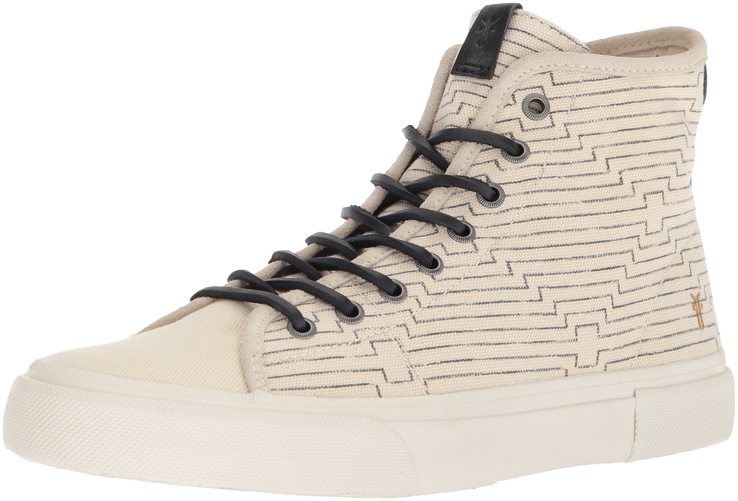 FRYE Men's Ludlow High Canvas Print Sneaker, Off White, 8.5 Medium US by FRYE (Image #1)