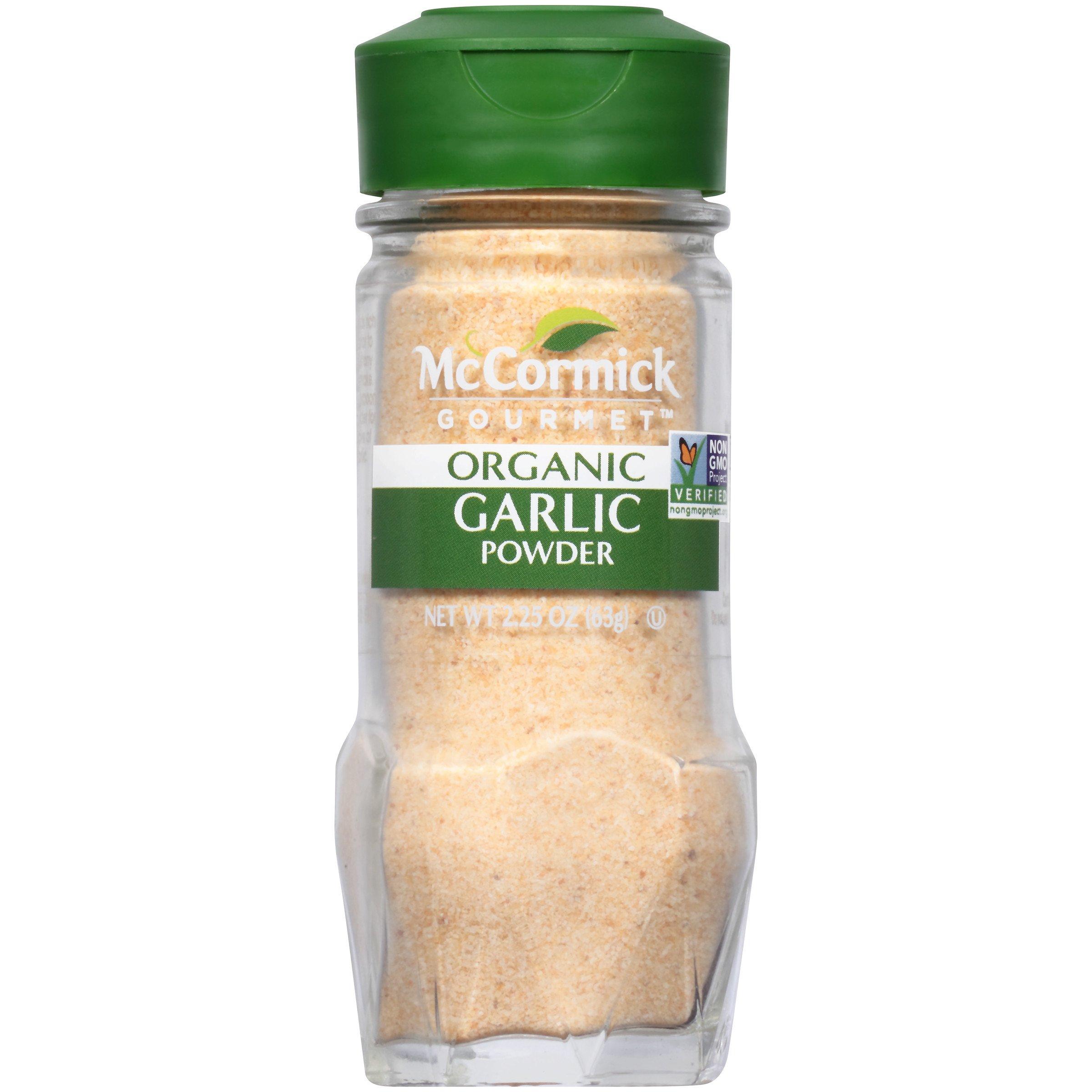 McCormick Gourmet Organic Garlic Powder, 2.25 oz