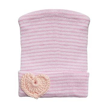 cba037bfef1 Amazon.com  RareLove Newborn Hospital Hat Pink Stripe Heart For Preemie Baby  Girls  Baby