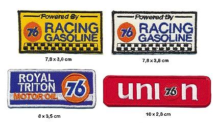 Unión 76 Gasolina parche para planchar Patch 4 pieza Racing Motor Sport Estados Unidos Turbo Envío