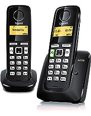 Gigaset A220DUO - Teléfono inalámbrico con Manos Libres, Pack de Dos Unidades