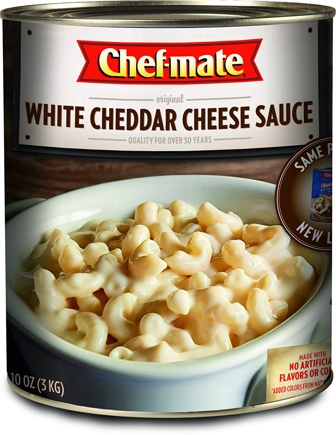 Chef-mate Que Bueno White Cheddar Nacho Cheese Sauce, Food, 6 lb 10 oz, #10 Can Bulk (Pack of 6)