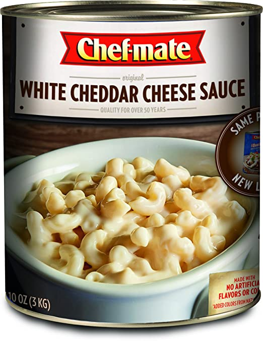 Amazon.com: Chef-mate Que Bueno White Cheddar Nacho Cheese Sauce, Superbowl Party Food, 6 lb 10 oz, #10 Can Bulk (Pack of 6)
