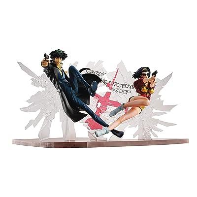 Megahouse Cowboy Bebop: Spike Spiegel & Faye Valentine 1st Gig PVC Figure Set, Multicolor: Toys & Games